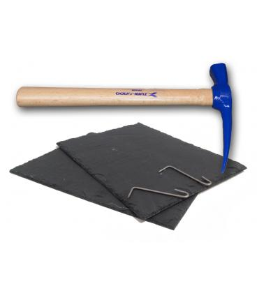 Kit de reparación tejado pizarra + martillo