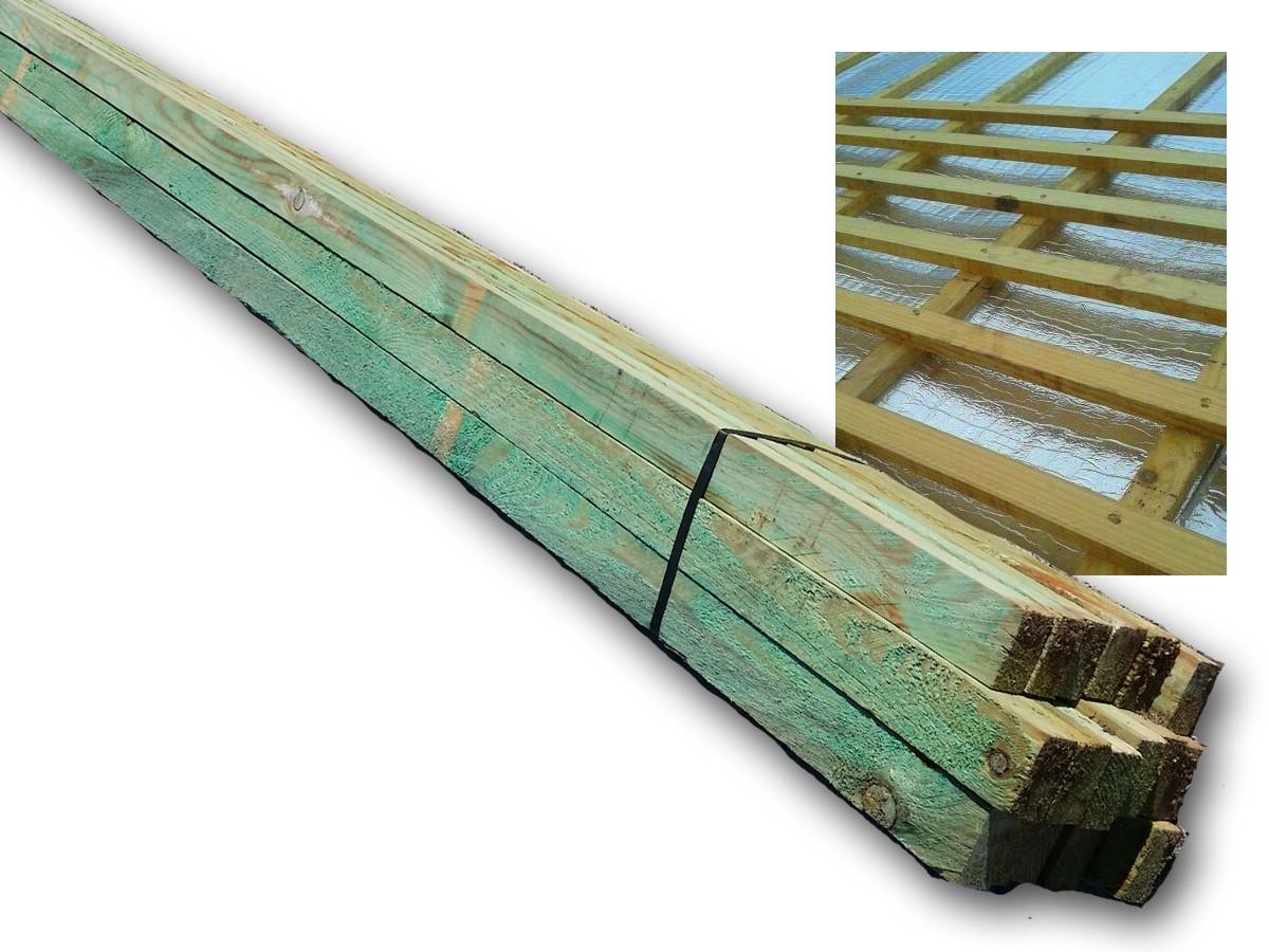 Rastreles y listones de madera tratada para cubiertas - Alcupi ...