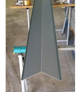 Remate arista cumbrera de pizarra aluminio (unidades de 2ml)