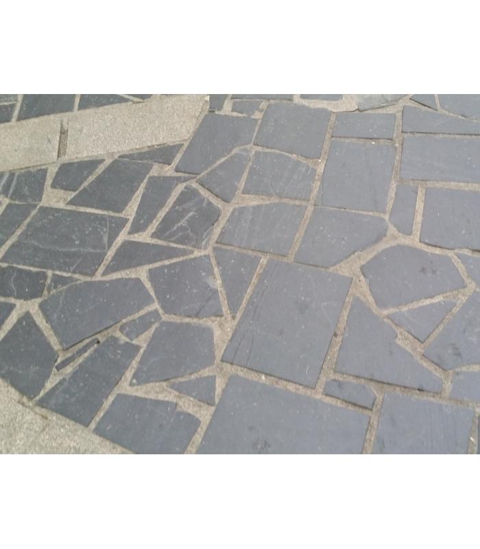 Planchoncillo de pizarra para suelos de piedra natural for Pizarra para jardin