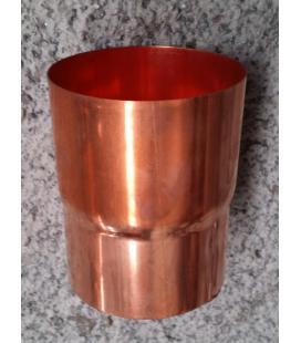 Manguito redondo de cobre para juntar bajantes 80mm