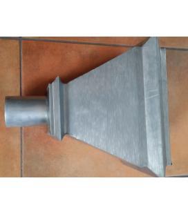 Cazoleta cuadrada de zinc 80mm diámetro