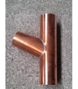 Derivación 80 cobre para bajante de cobre