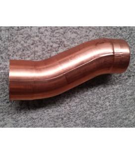 Doble codo o desviación de cobre