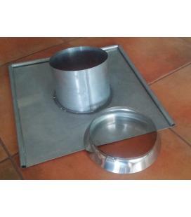 Base chimenea redonda de zinc (a medida según diámetro)