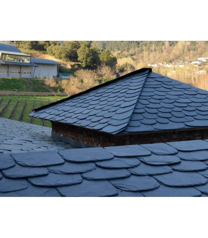 Pizarra natural a granel recortado para tejados y cubiertas - Teja de pizarra ...