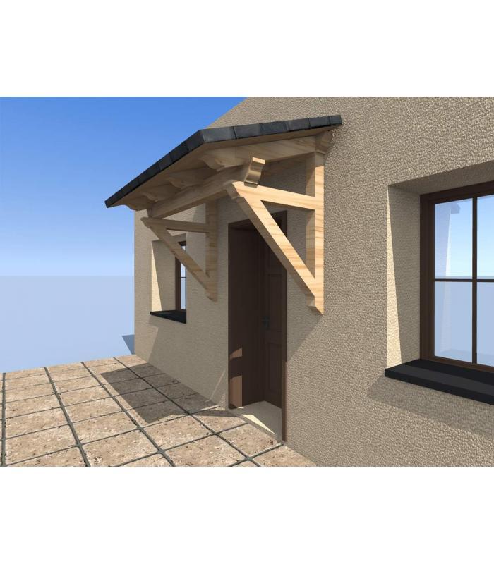 Porche un agua pino abeto para ventanas o puertas for Marquesinas para puertas
