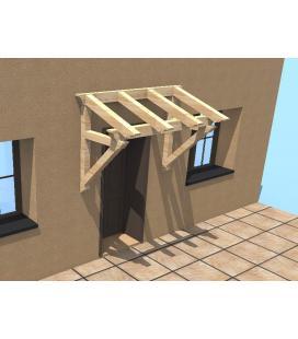 Marquesina pino abeto para ventanas o puertas