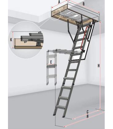 Escalera escamoteable FAKRO metálica de tramos