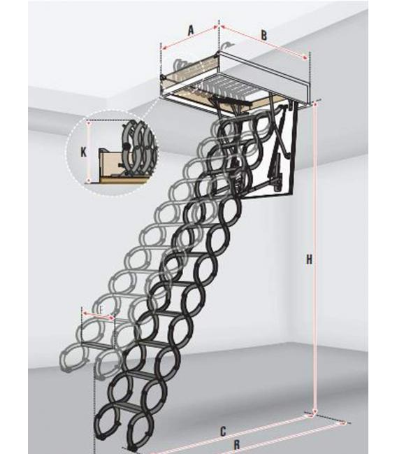 Escalera escamoteable FAKRO de tijera