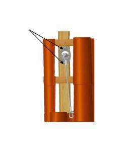 Anclaje de seguridad con cuerda para cubiertas inclinadas LUX-top CORDA