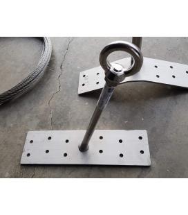 Punto de anclaje para atornillar a vigas de madera LUX-top ASE PV 7 inclinado