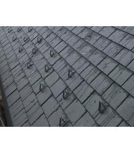 Sistema de retención de nieve para cubiertas de pizarra en zonas con nieve aluminio