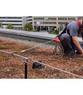 Linea de vida LUX-top HA4 para trabajos en el tejado para fijar equipos individuales hasta 3 personas