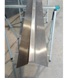 Remate de zinc a medida diferentes desarollos para tejados (unidades de 2ml)