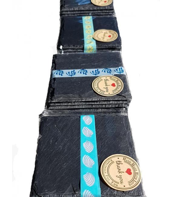 Pack de regalo posavasos de pizarra con almohadillas (6 unidades)