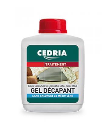 Gel decapante Cedria para eliminar barnices, lasures, esmaltes y pinturas