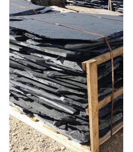 Planchón rústico de pizarra negra