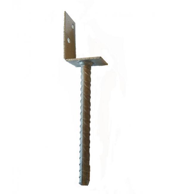 Pie de viga anclaje pilar en forma de L