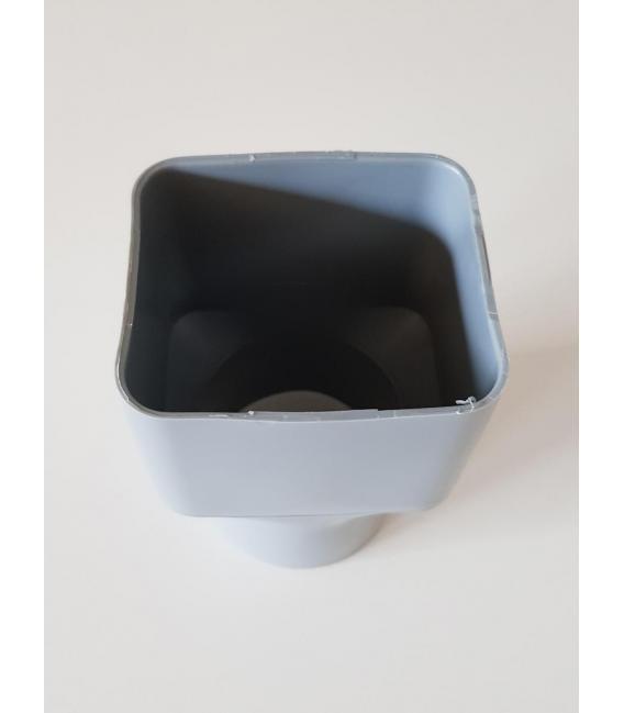 Adaptador alcantarillado y drenaje para bajante aluminio 6x8 PVC