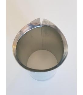 Nacimiento redondo para unión canalón bajante de zinc D80