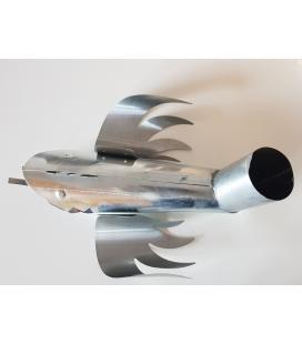 Gárgola bajante de zinc para bajante de 80mm