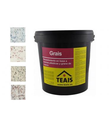 Teais Grais revestimiento con árido en base a resinas plásticas y grano de cuarzo (23kg)