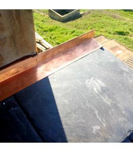 Remate de cobre a medida diferentes desarollos para tejados (unidades de 2ml)