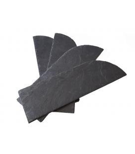 Media teja de pizarra natural para cumbreras o aristas (32x11)