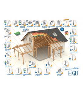 Herraje plano para unir madera con hormigón