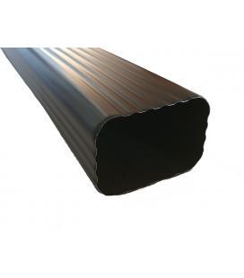 Bajante rectangular de aluminio lacado 6x8cm (3m)