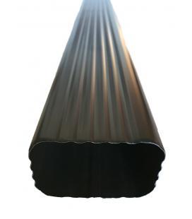 Bajante rectangular de aluminio lacado 60x80mm