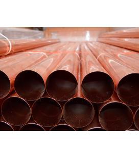 Bajante redonda de cobre - Diámetro 80mm