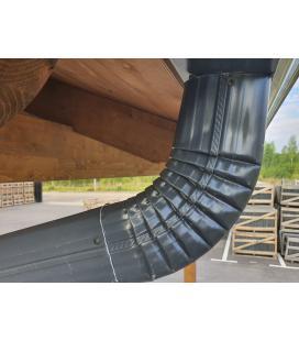 Codo lateral para bajante de aluminio