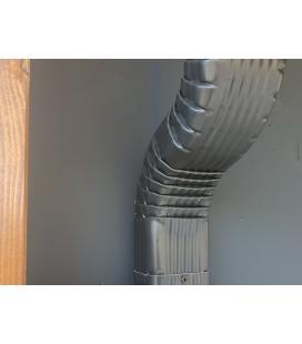 Desviación frontal de bajante aluminio