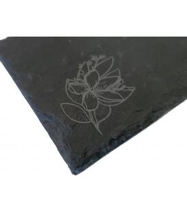 Posavasos de pizarra natural personalizados con grabado (desde 100ud)