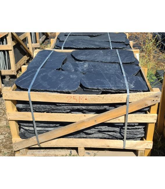 Planchón de pizarra REDONDEADO para jardines o suelos (125pz)
