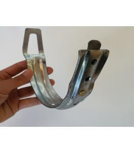 Soporte gafa para canalón zinc
