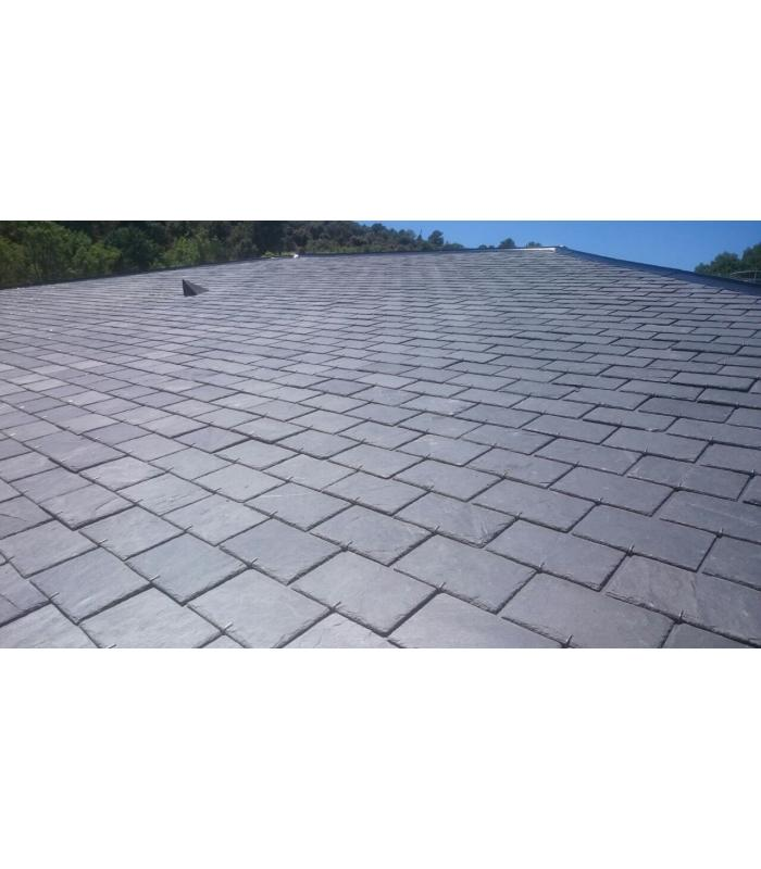 Tejas de pizarra para tejados y cubiertas 32x22 for Chapa imitacion teja sin aislamiento