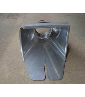 Salida universal para canalón redondo de zinc