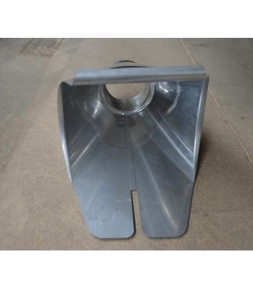 Salida universal canalón zinc