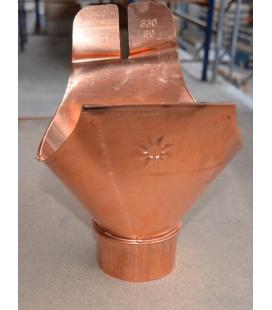 Salida universal canalón cobre