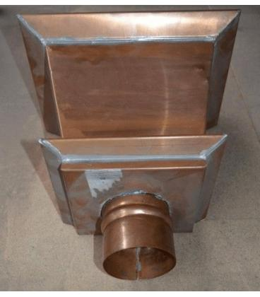 Cazoleta cuadrada de cobre 80mm diámetro