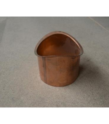 Salida canal redondo de cobre