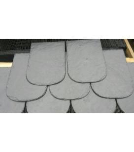 Pizarra veneciana semi redondeada para tejados
