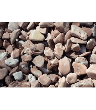 Piedras para jardín de mármol rosa