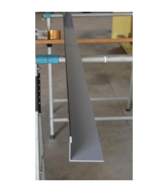 Bandeleta lateral de aluminio para tejados de pizarra - Listones de aluminio ...