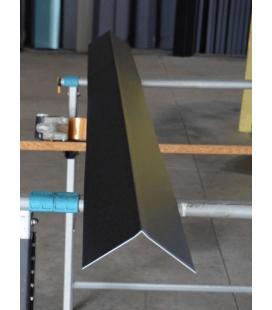 Remate cumbrera pico aluminio (unidades de 2 ml)