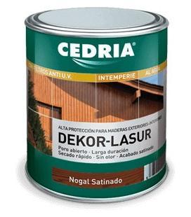 Cedria DEKOR LASUR para maderas en el exterior (al agua)