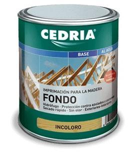 Cedria Fondo Imprimación con bloqueo de taninos para maderas frondosas
